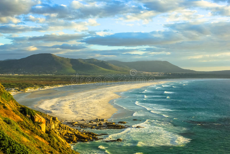 Praia África do Sul de Noordhoek imagem de stock royalty free