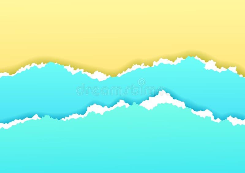 Praia ilustração stock