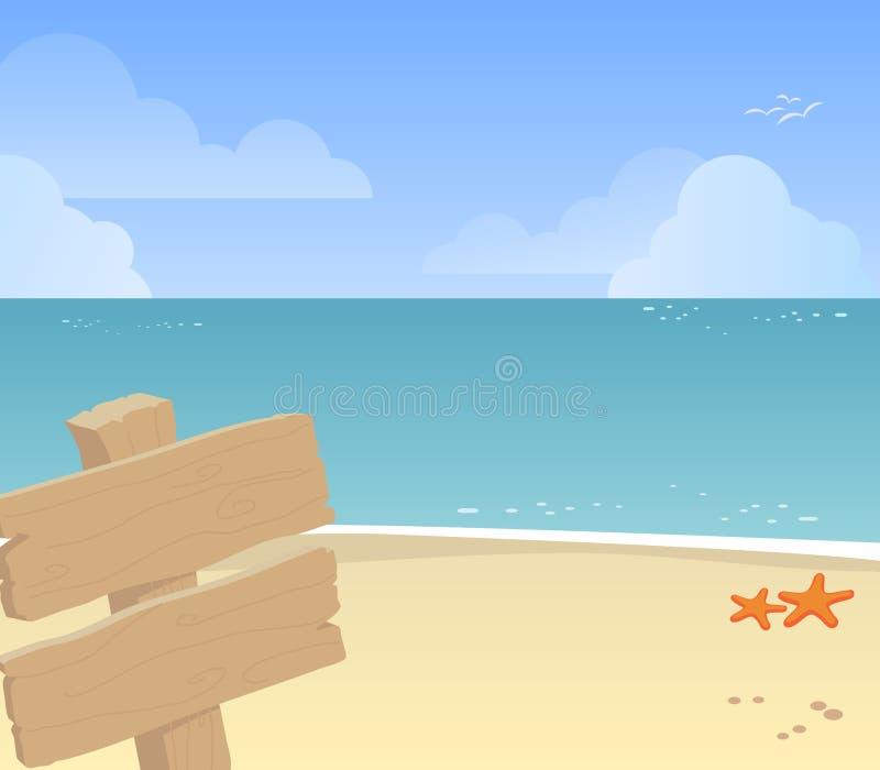 Praia ilustração do vetor