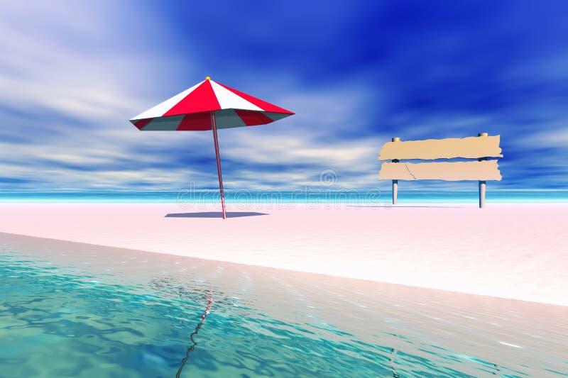 Praia ilustração royalty free