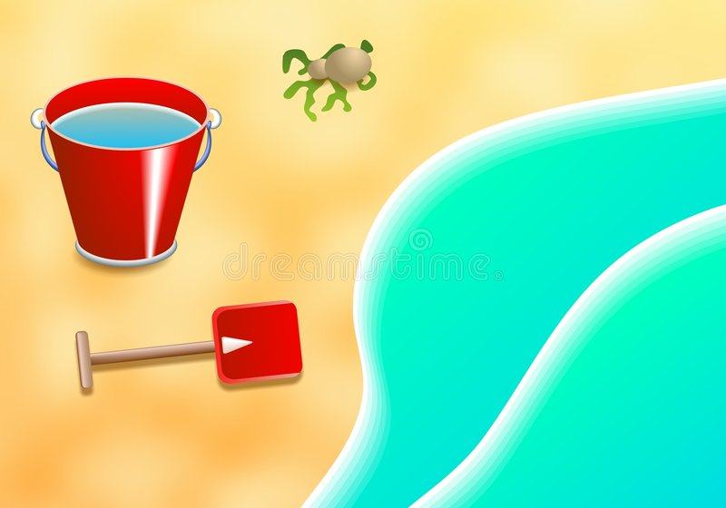 Download Praia ilustração stock. Ilustração de água, oceano, ilustração - 52257