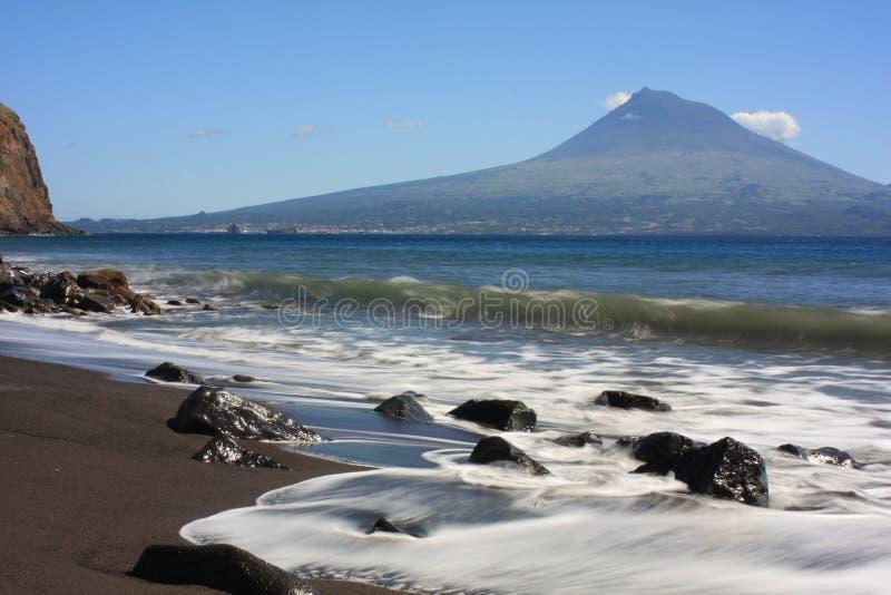 Praia açoriana fotografia de stock royalty free