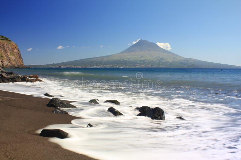 Praia açoriana imagem de stock