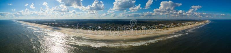 Praia aérea FL de St Augustine do panorama fotografia de stock