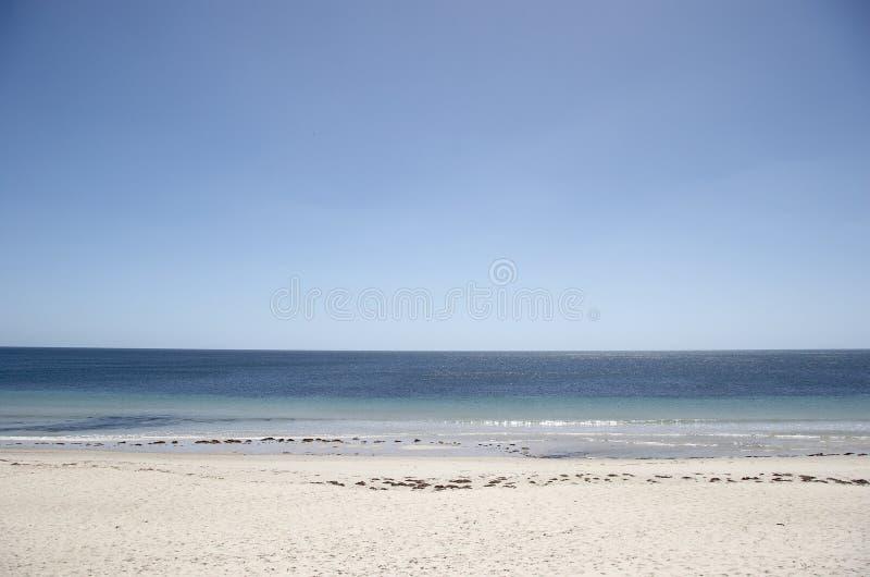 Praia abandonada fotografia de stock royalty free