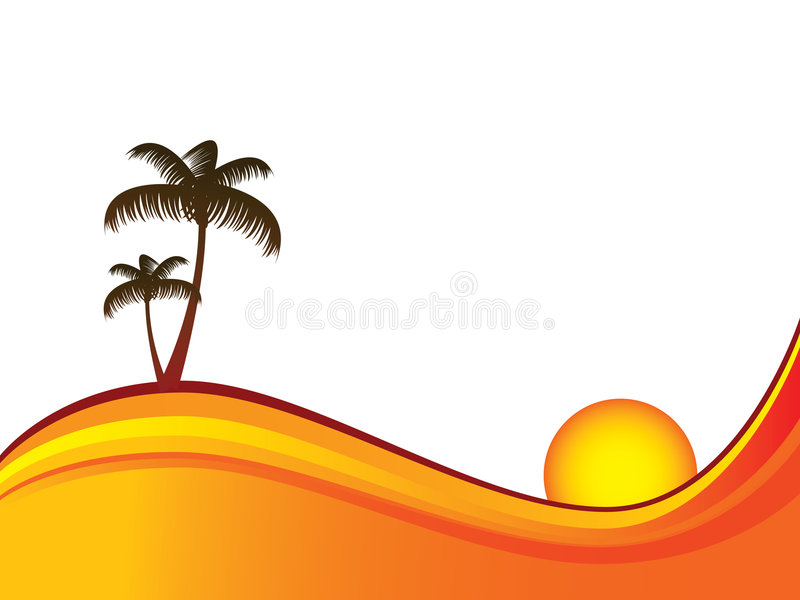 Praia abstrata ilustração royalty free