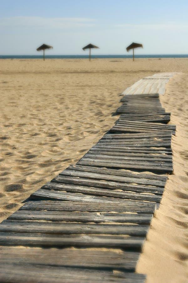 Praia Acess do paraíso foto de stock