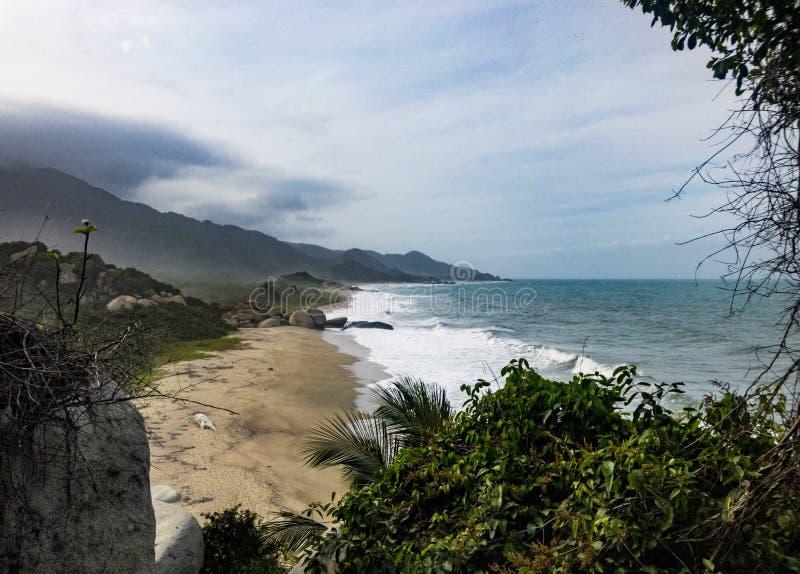 Praia agradável imagem de stock