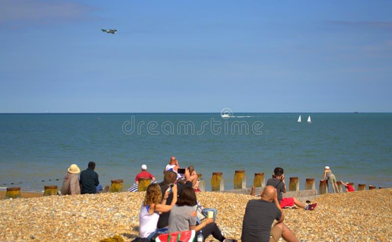 Praia Airshow Reino Unido de Eastbourne fotos de stock royalty free