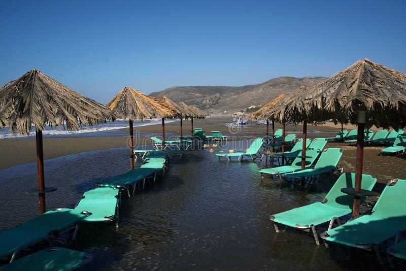 Praia após uma tempestade foto de stock royalty free