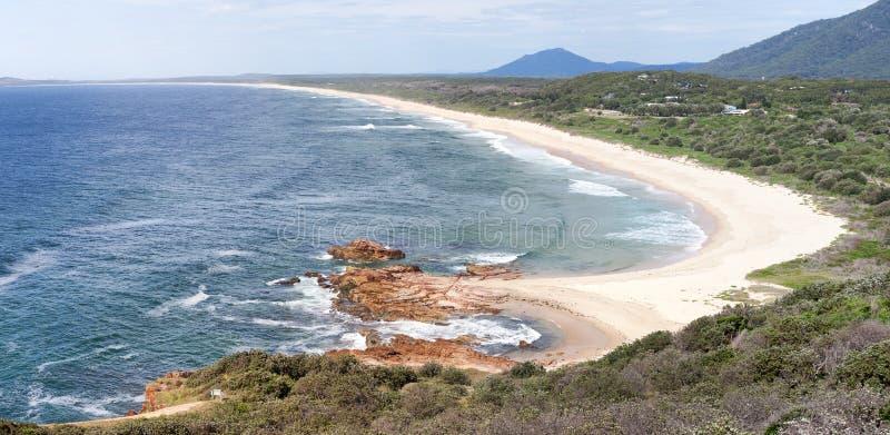 Praia Austrália de Dunbogan imagem de stock royalty free