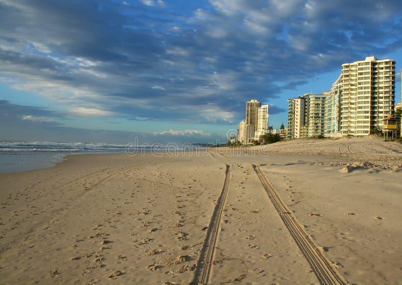 Praia Austrália do paraíso dos surfistas foto de stock