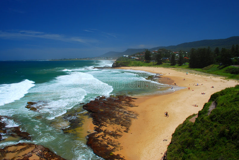 Praia australiana imagem de stock