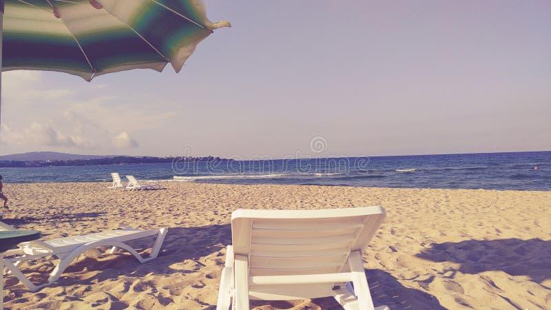 Praia búlgara vazia fotos de stock royalty free