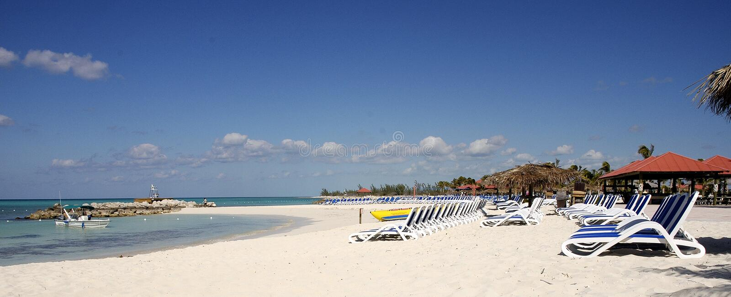 Praia bahamas foto de stock