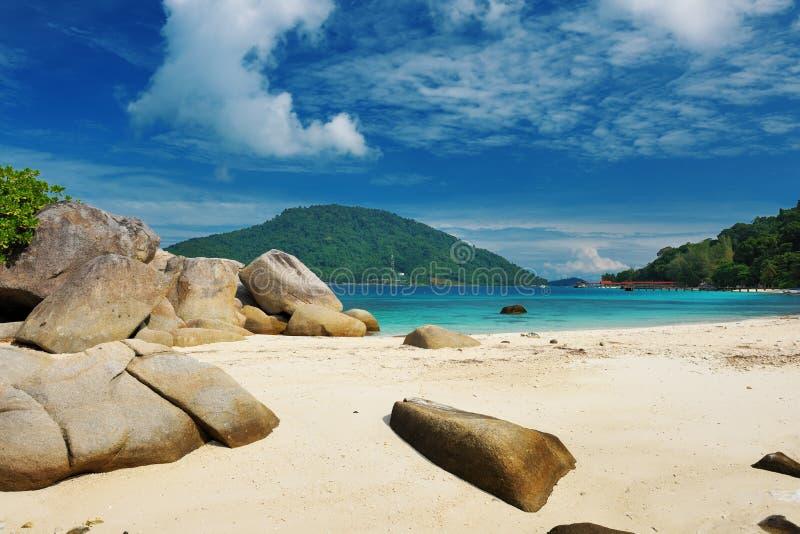 Praia bonita fotos de stock royalty free