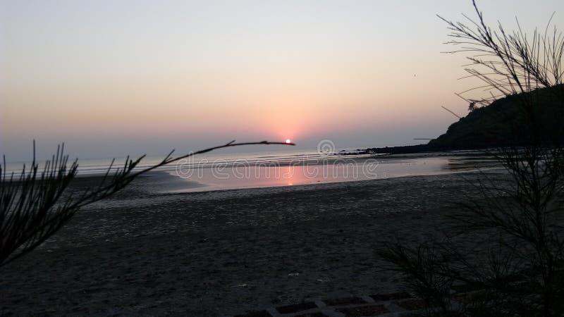 Praia bonita! imagem de stock