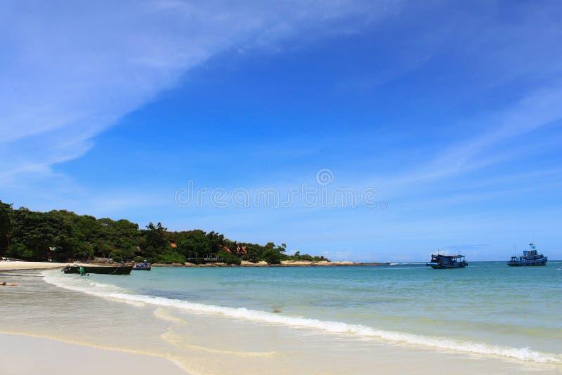 Praia bonita, console de Samed fotografia de stock