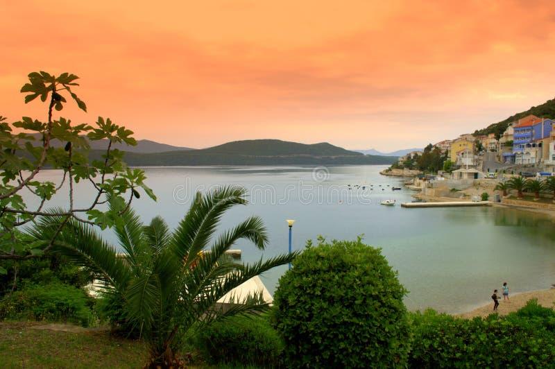 Praia bonita da manhã fotografia de stock royalty free
