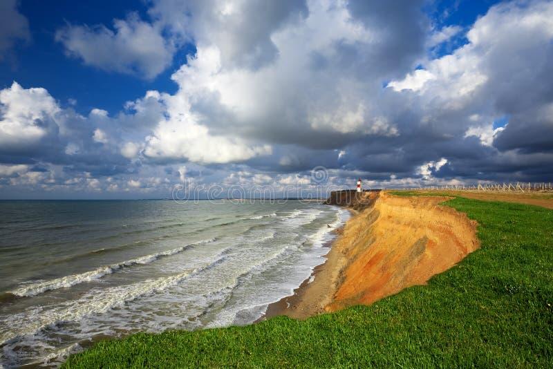 Praia bonita do mar imagens de stock