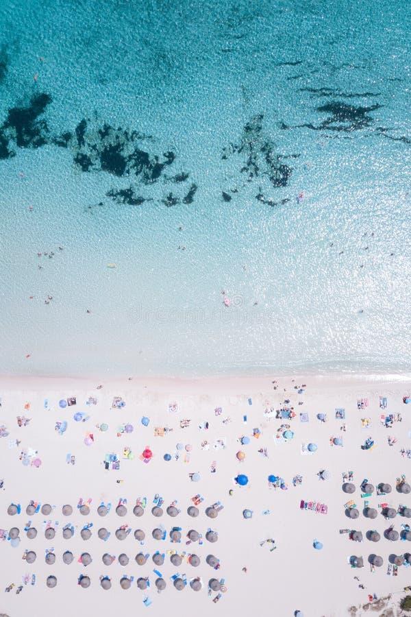 Praia bonita em Cala Agulla Mallorca fotos de stock