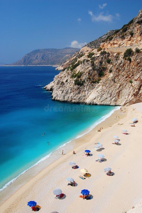 Praia bonita em Turquia fotografia de stock royalty free