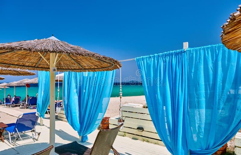 Praia bonita Grécia fotografia de stock
