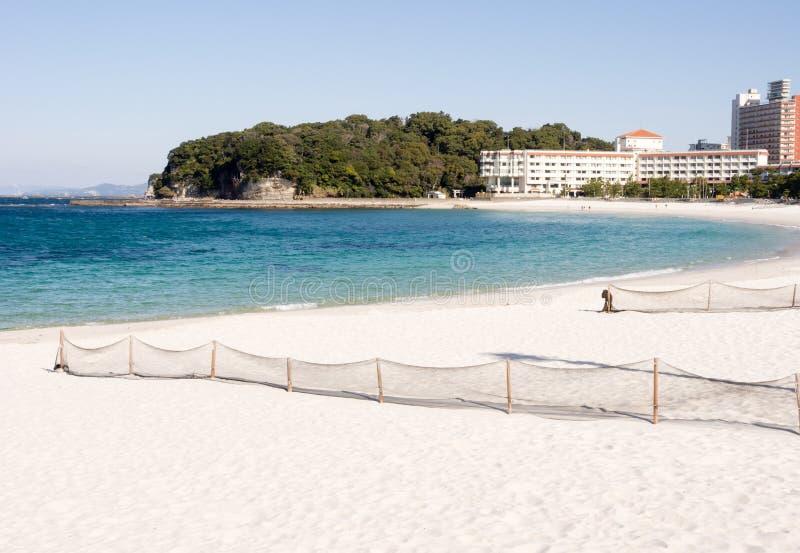 Praia branca de Shirahama da areia imagens de stock