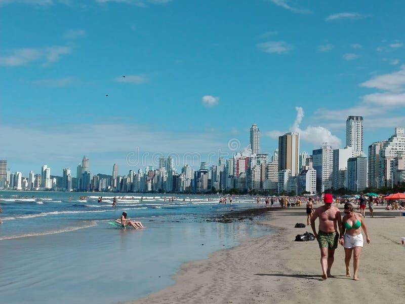 Praia Brasil de Camboriu imagens de stock