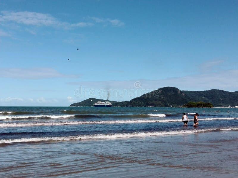Praia Brasil de Camboriu imagens de stock royalty free