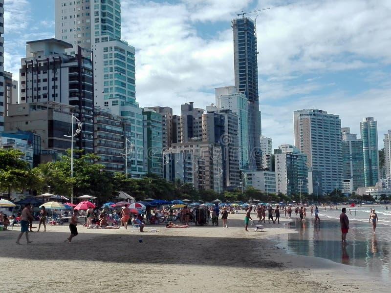 Praia Brasil de Camboriu fotografia de stock