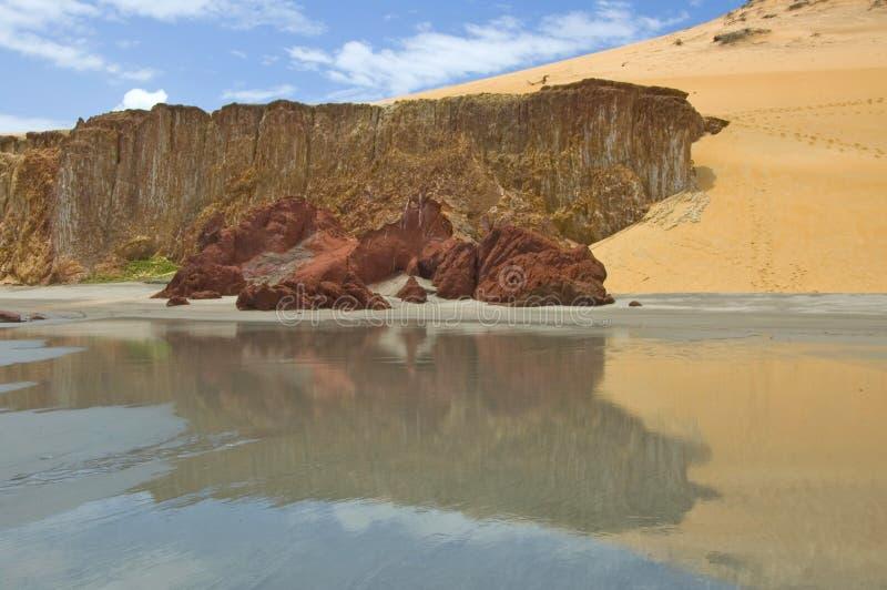 Praia Brasil de Fortaleza fotos de stock royalty free