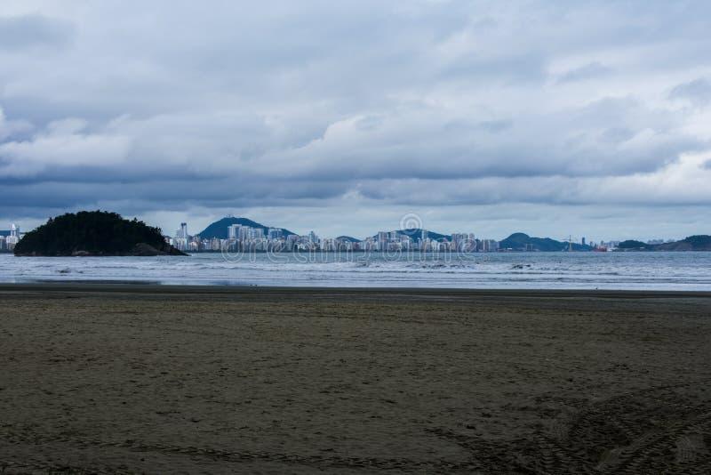 Praia Brasil de Vicente do Sao fotografia de stock