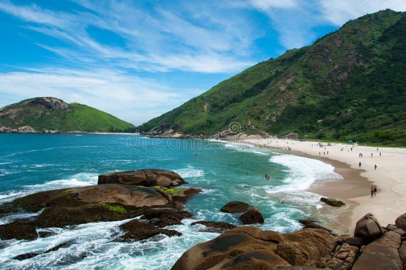 Praia brasileira tropical foto de stock royalty free