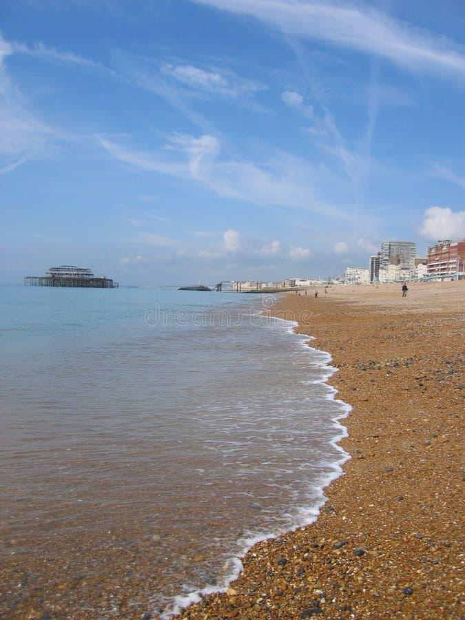 Praia, Brigghton, Inglaterra foto de stock royalty free