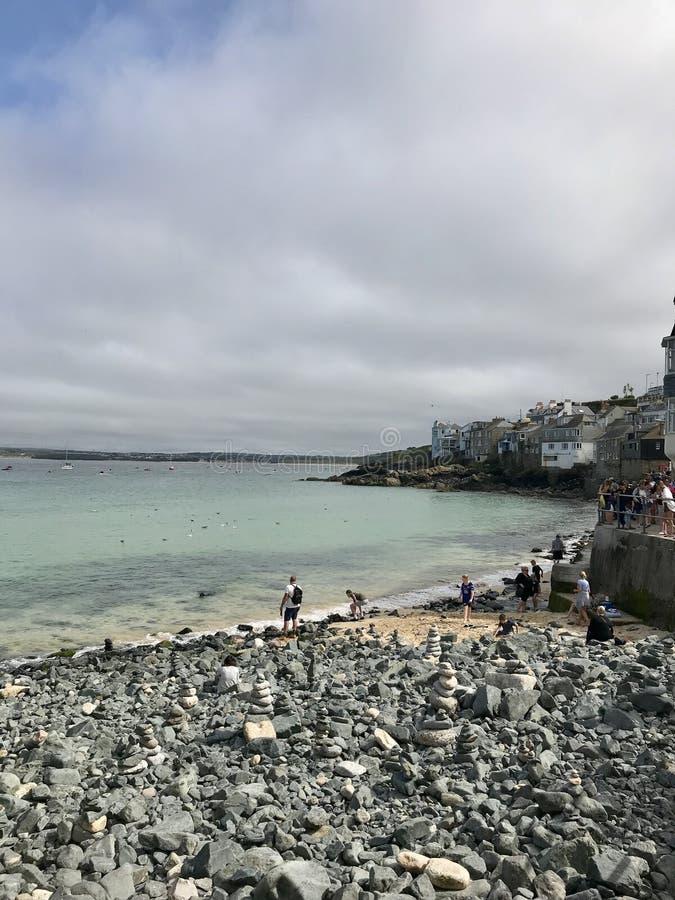 Praia córnico foto de stock