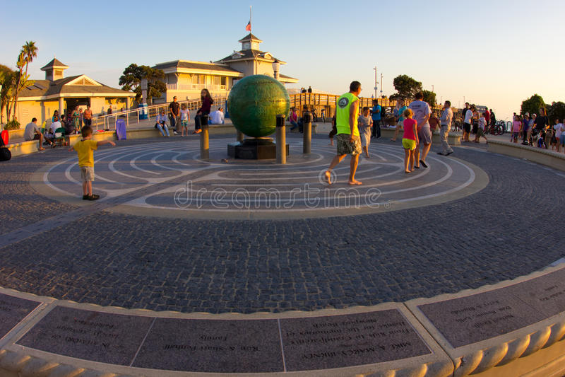 Praia CA de Newport fotografia de stock royalty free