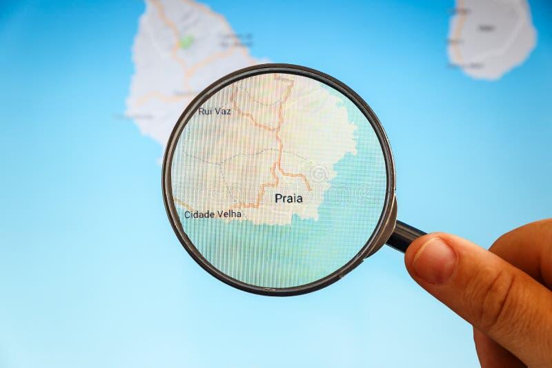 Praia, Cabo Verde correspondencia pol?tica fotos de archivo