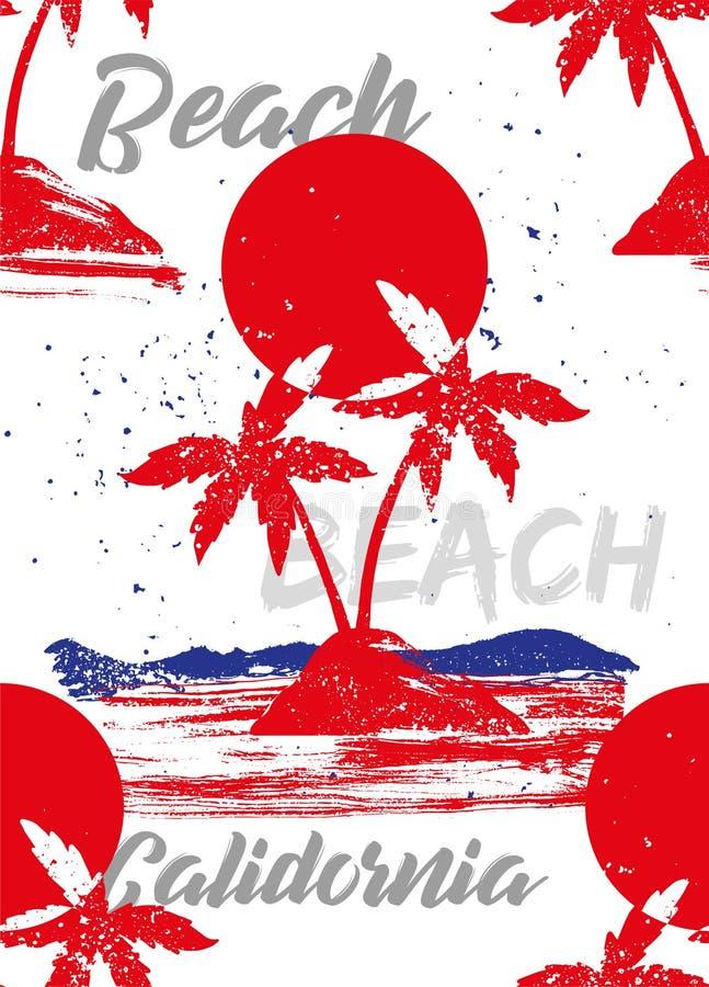 Praia Califórnia ilustração stock
