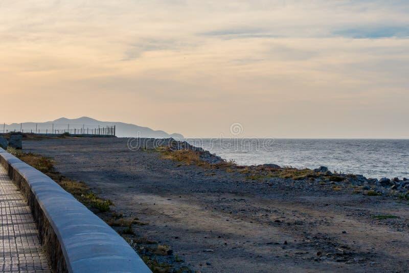 Praia calma e só foto de stock royalty free