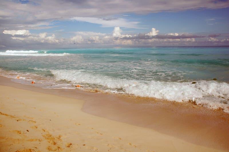Praia Cancun/México foto de stock