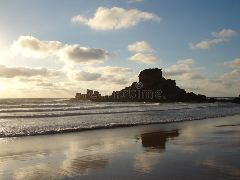Praia, Castelejo, o Algarve, Portugal imagens de stock