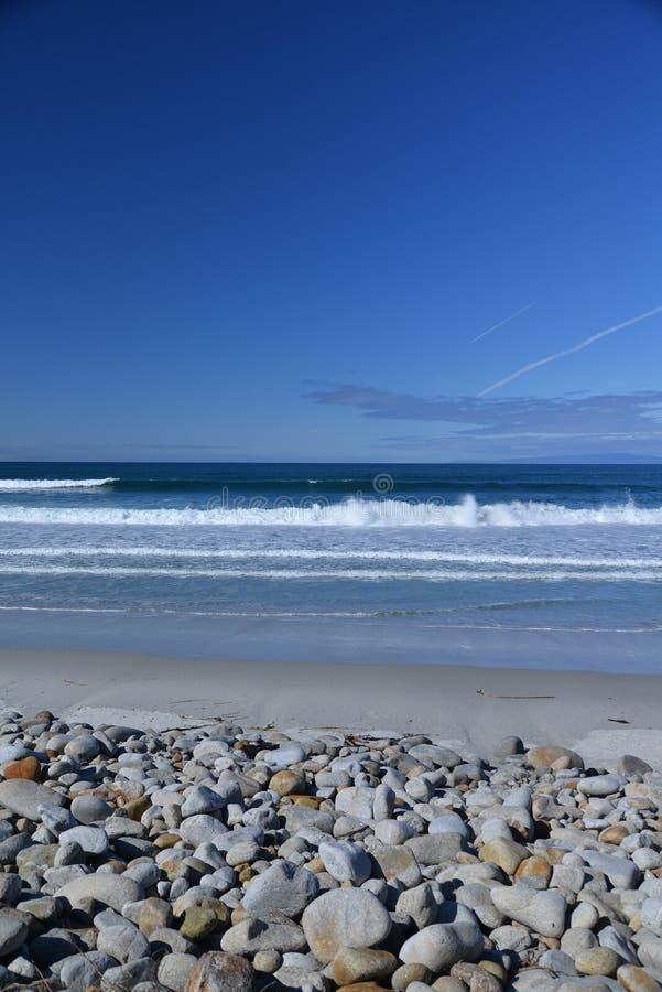 Praia central da costa de Califórnia Monterey, EUA fotos de stock royalty free