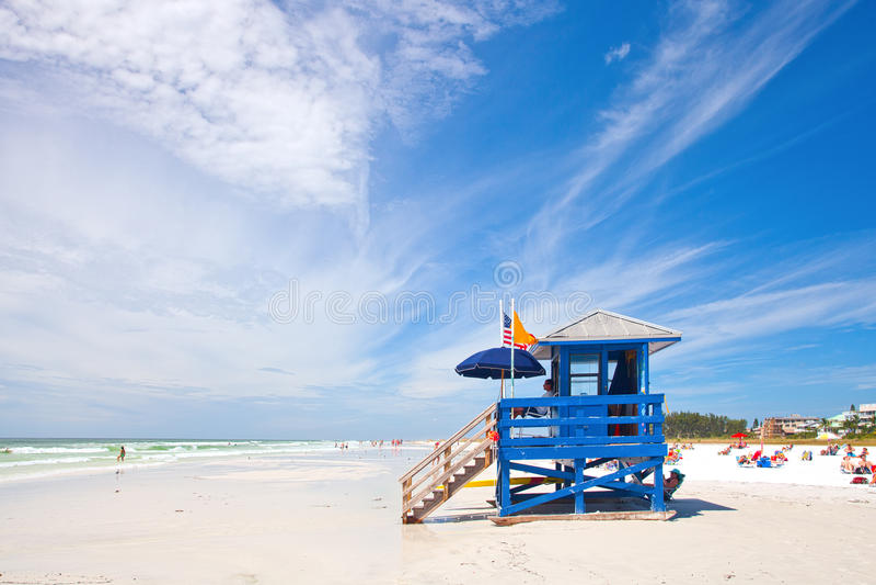 Praia chave da sesta na costa oeste de Florida imagem de stock royalty free