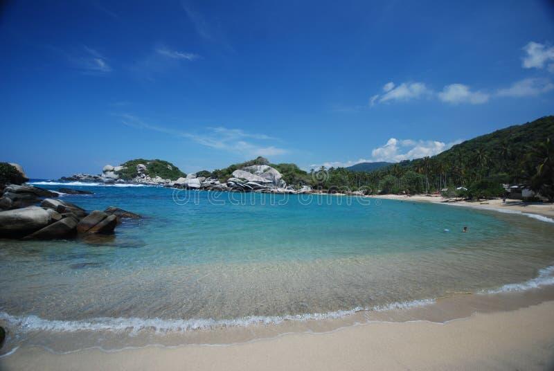 Praia colombiana fotos de stock royalty free