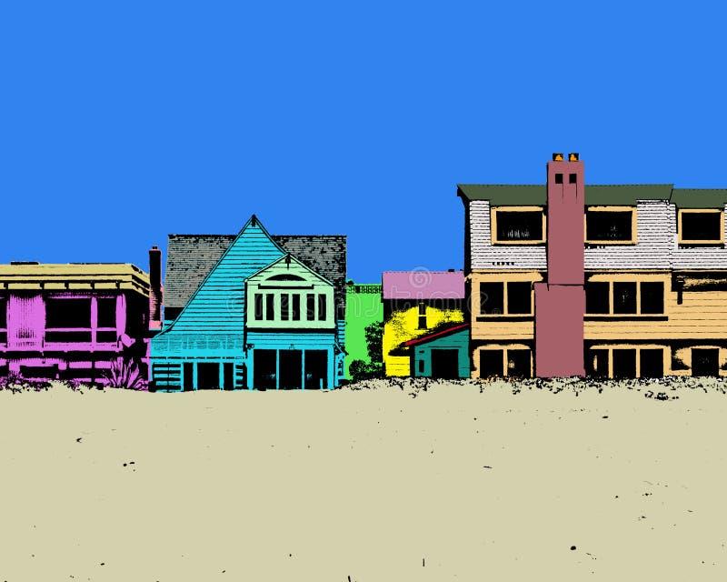 Praia colorida fotos de stock royalty free