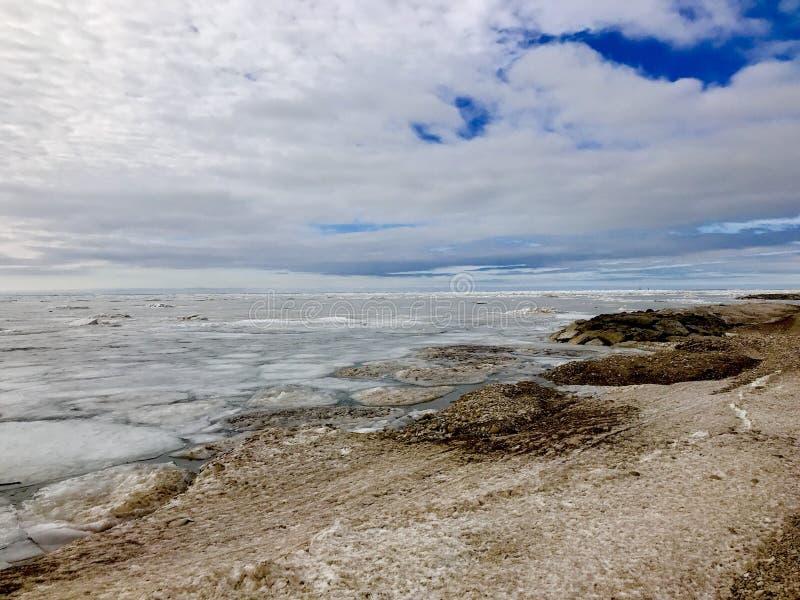 Praia congelada imagem de stock