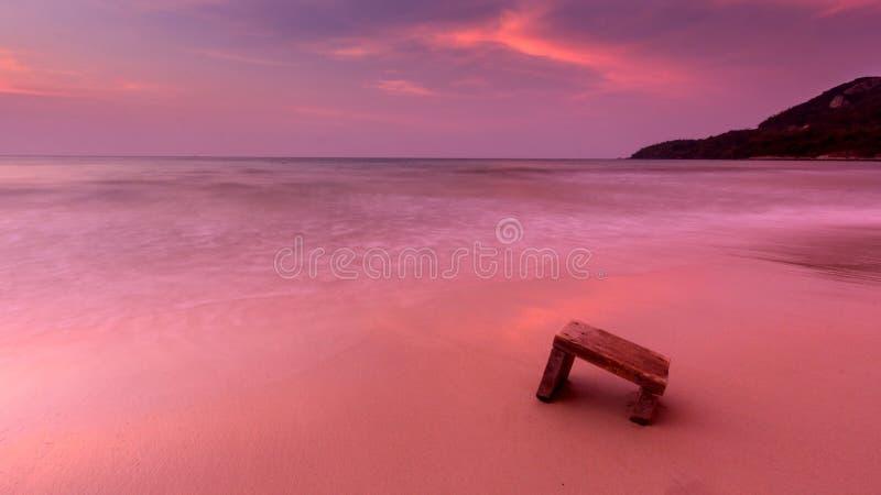 Praia cor-de-rosa imagem de stock