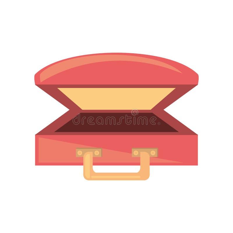 Praia cor-de-rosa do curso da bagagem da mala de viagem ilustração do vetor