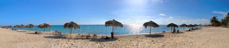 Praia cubana tropical fotos de stock royalty free